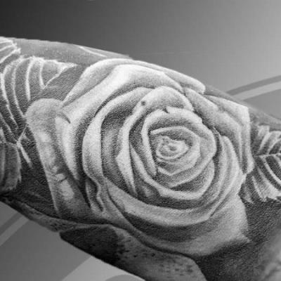 Projet tatouage rose
